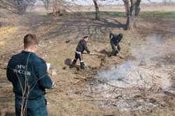За сжигание сухой растительности и мусора - штраф