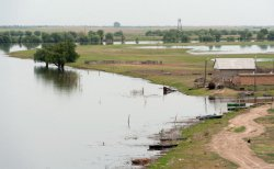 Паводок в Астраханской области продолжается: уровень и температура воды