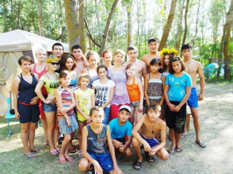 Юные ахтубинцы отдыхают в палаточном лагере