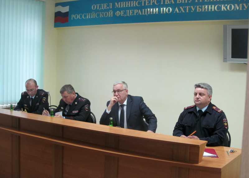Начальник УМВД России по Астраханской области посетил Ахтубинский район и г. Знаменск