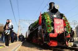 Ретро-поезд «Воинский эшелон» совершает тур Победы по Астраханской области
