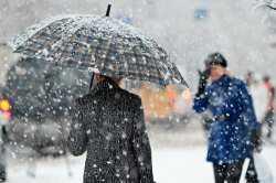 Новая рабочая неделя начнется в Астрахани со снега